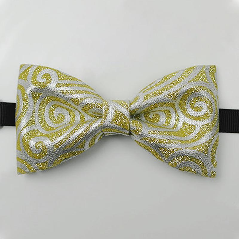 Bow Tie Кожа PU Мужская Жениха костюм Рубашка аксессуары высокого качества ручной шаблон Модные Свадебный банкет Bowtie Подарки