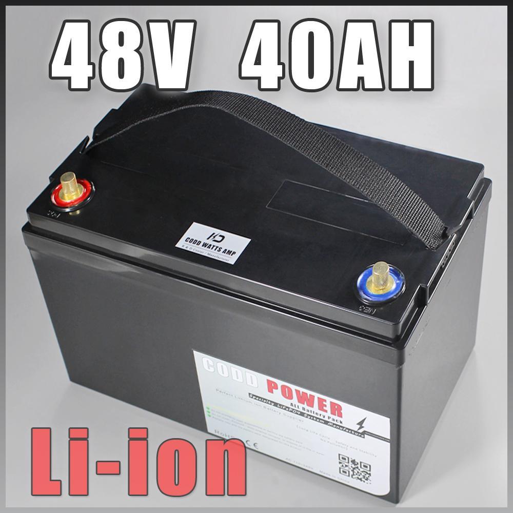 bicicletta elettrica batteria 48V 2000W agli ioni di litio 40AH alloggiamento della batteria LFP con la plastica