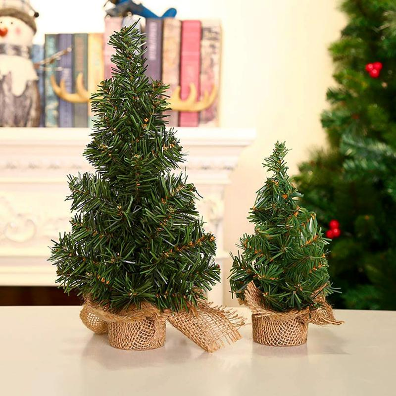 Mini Yılbaşı Ağacı Sisal İpek Sedir Ağacı Küçük Yapay Noel Dekorasyon Mağaza Masaüstü Evi Pencere Süslemeleri