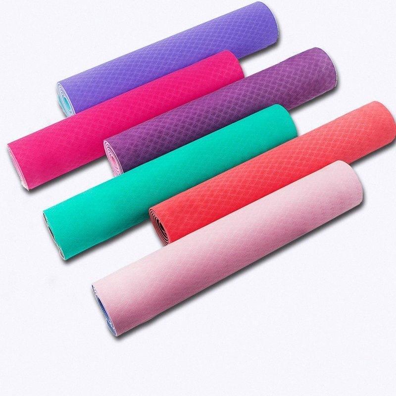6 mm di spessore di schiuma Yoga Mat TPE ad alta elastico fitness Esercizio di allenamento di ginnastica arredamento di casa Ginnastica Formazione Pad gasu #
