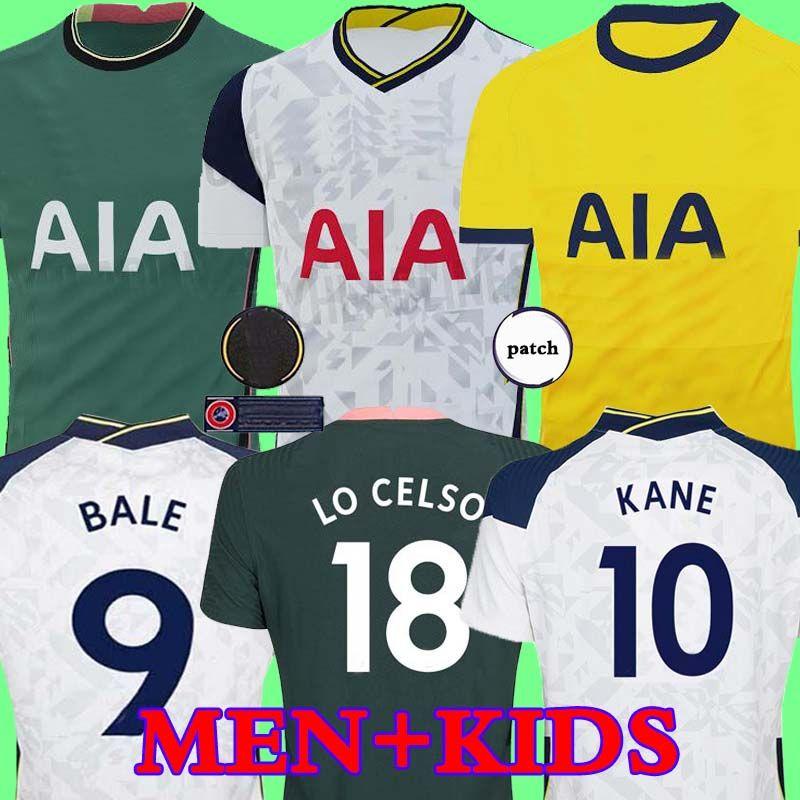 Men + KIDS KIT 20 21 KANE SON Bergwijn Ndombele Fußballjerseys 2020 2021 LUCAS DELE TOTTENHAM Trikot Football Kit Shirt LO CELSO HOME BALE