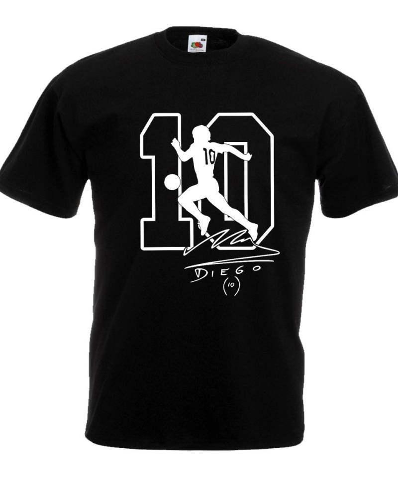T-shirt Maradona El Napoli Argentine meurt pibe Uomo Bimbo autografo 100% Cotone le football frais fierté casual hommes t-shirt -dans T-shirts de