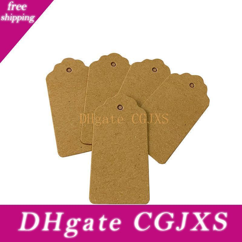 Blank Kraft Paper Gift Tag 5x3cm 2x4cm Craft Tag Hang For Packaging Thank You Price Tags Wedding Party Decoration