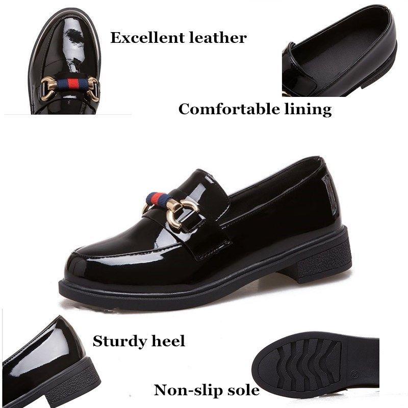 Designer de Luxo Shoes Mulheres Bombas 2019 New Black Leather Salto Trabalho Senhoras sapatos Plus Size Shoe excelente mulher Zapatos mujer Y200323