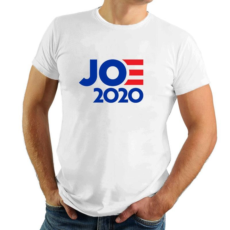 2020 Joe Biden Camiseta Presidente Eleição Voto Democrata Unisex camisas de manga curta Slim-fit juventude em torno do pescoço Imprimir Estilo VT1449 Moda