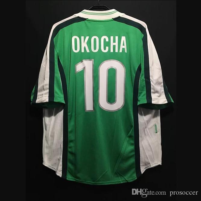 Retro 1998 de Futebol Kanu Okocha Finidi Babangida Yekini Amokachi Vintage shirt Tops Futebol Kit clássico