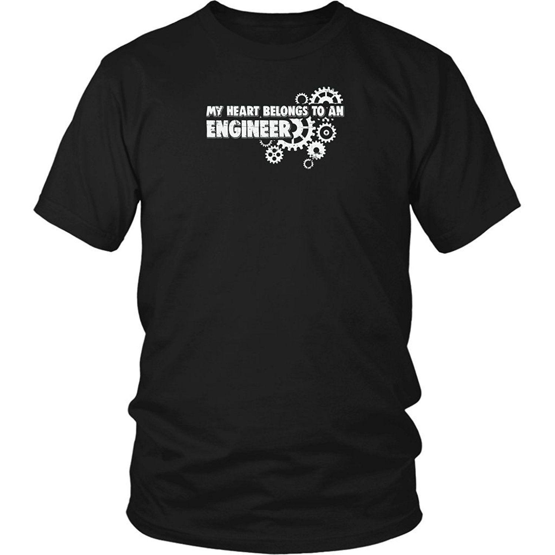 Sport 2019 Nuovo Summer Slim Tee Shirt mio cuore appartiene ad un ingegnere - funnny T-shirt per Ingegnere