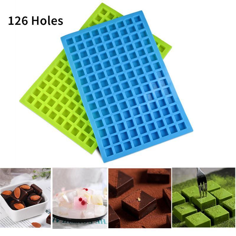 126 Lattice площади льда Формы Инструменты Jelly выпечки Силиконовые партии Mold Украшение Шоколадный торт Cube Tray конфеты для кухни