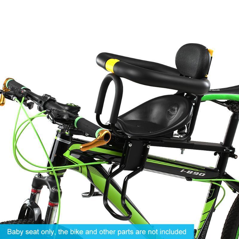 Sécurité des enfants Les enfants de vélos Siège vélo avant bébé Siège enfant Selle avec pied Pédales Support Retour Reste pour le VTT Vélo de route