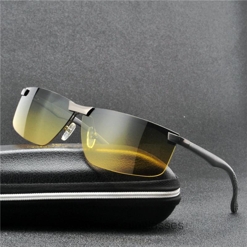 Male 2020 For Men Men's Driving Polarized Sunglasses Vision Sun Glasses New MINCL Night Square Shades NX Ljels