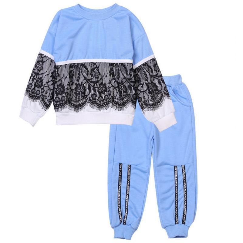 Neue Art und Weise Kinder Kleidung Mädchen-Kleidung T-Shirt + Hosen 2pcs gesetzte Kinder Anzug Frühlings-Herbst-Sport-Klage 3-7Y