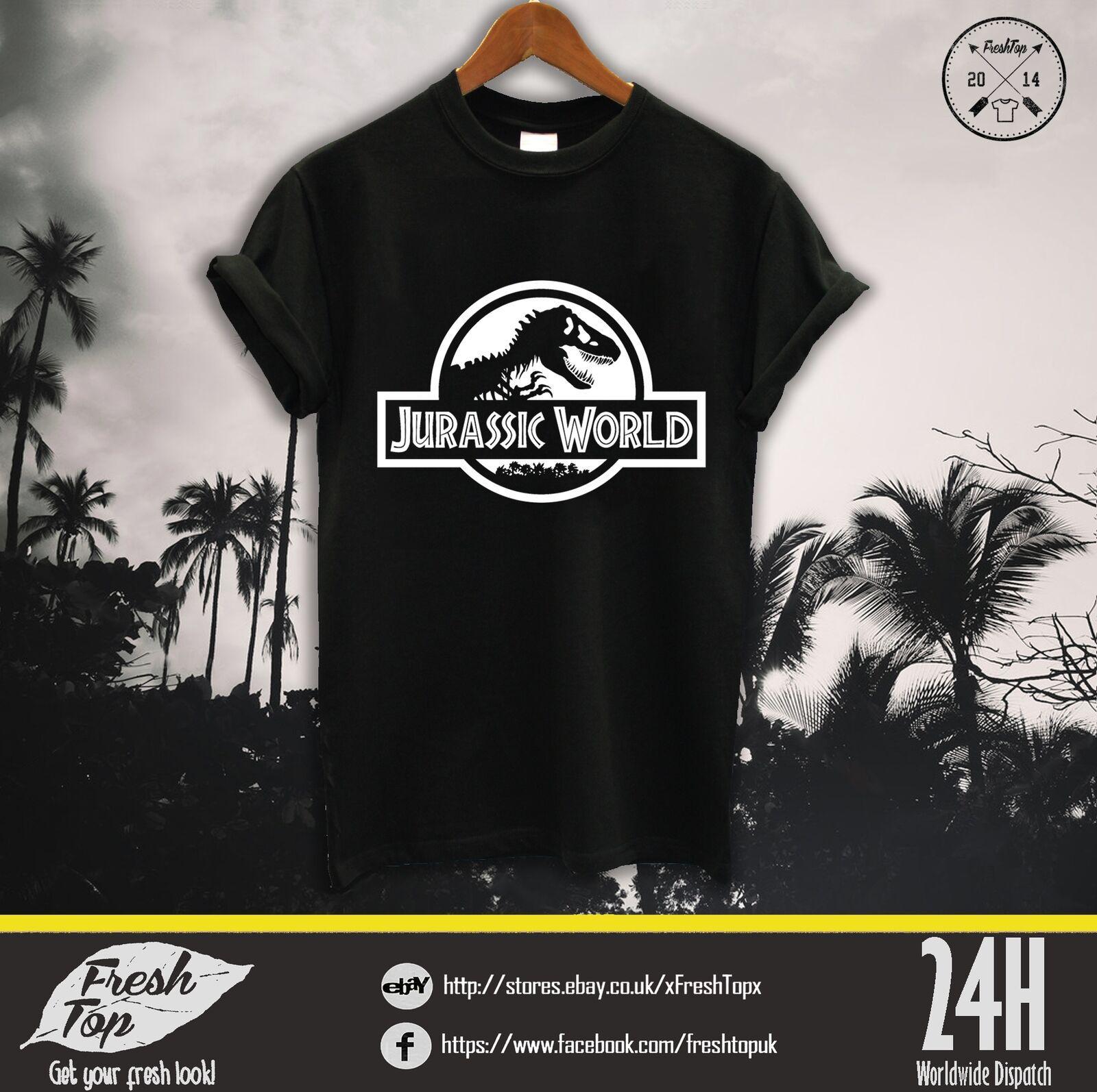 Jurassic Park T Mundial shirt Logo Dinossauro Filme Poster 90S Crianças Retro T Rex