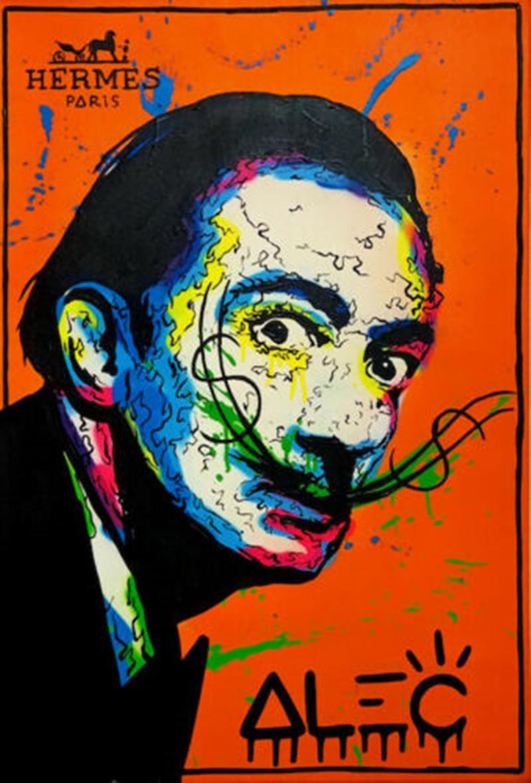 Alec Monopoly art Graffiti Portrait Home Décor peint à la main HD Imprimer Peintures à l'huile sur toile Wall Art Photos 200821