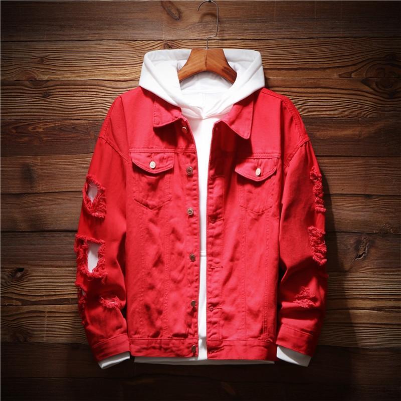 La primavera e l'autunno nuovo denim cava studente moda giacca stile coreano uomini bf bello sciolto top tutto-fiammifero casuale giacca
