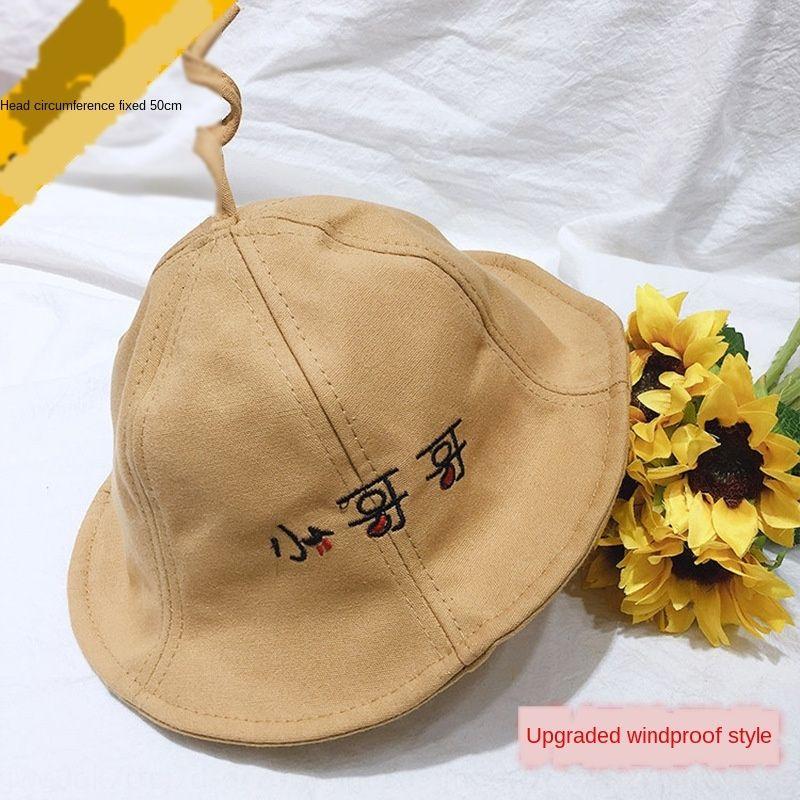 Çocuk balıkçı bahar ve kepçe kepçe şapka sonbahar Kore tarzı erkek ve dişi bebeğin güneş gölgeleme güneş geçirmez küçük arı saksı şapka çocuk
