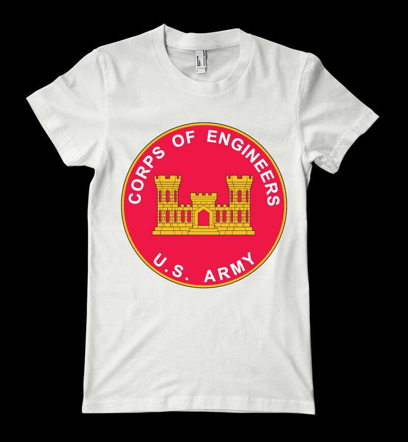 Cuerpo de Ingenieros del Ejército de los nuevos hombres camisa de algodón camiseta