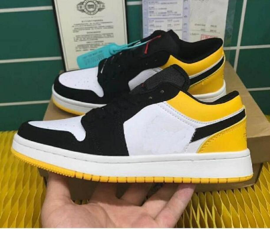 2020 Calçados masculinos Marca e skate de Mulheres Esportes 1s Moda Low Cut Casual Dunk sapatos ao ar livre Sneakers 36-44