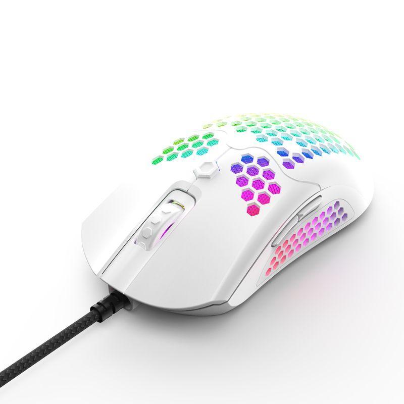 M5 полым из Honeycomb Shell Gaming Mouse Красочные RGB подсветкой Light Проводные мыши