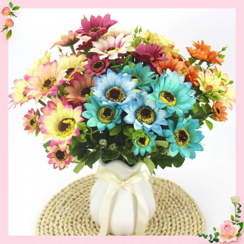 1 bunch of artificial Gerbera silk flower daisy artificial flower sunflower home garden party wedding decoration