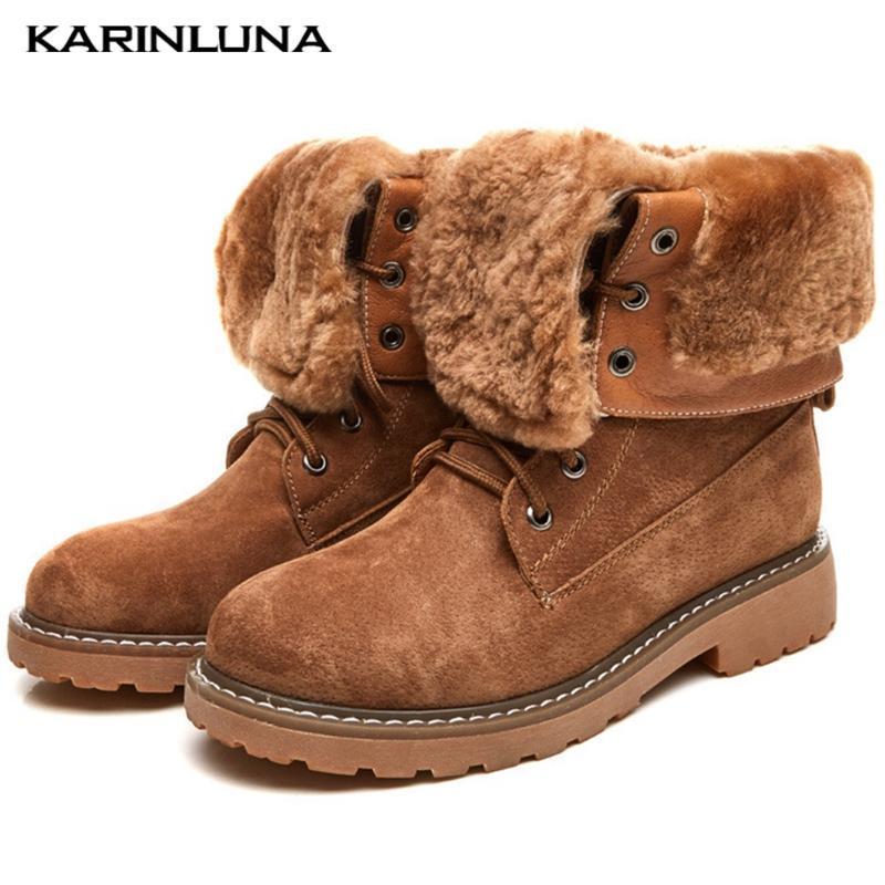 Botas de calidad superior de calidad moda nieve invierno felpa mantener cálido redondo toe flock suqare espeso talones otoño tobillo hembra zapatos