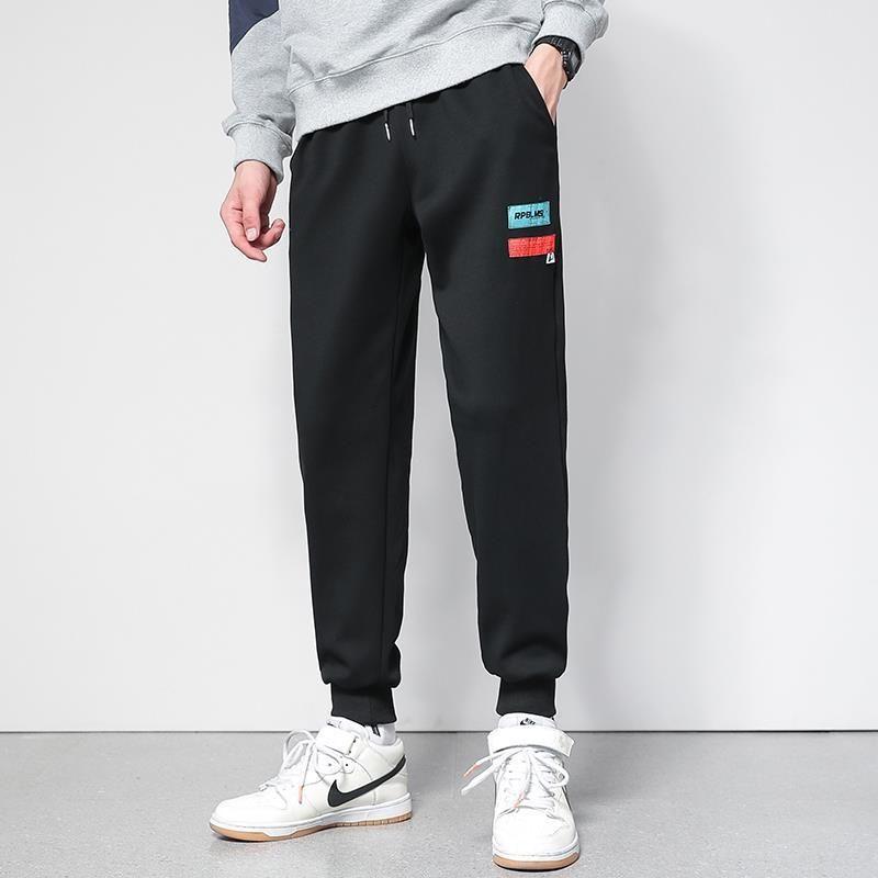 xjmBu Hosen 2020 Frühling und beiläufige pantssports Hosen der Männer pantsAutumn koreanische Art und weist beiläufigen Drawstring lose Herren-grau Sport Knöchel-t