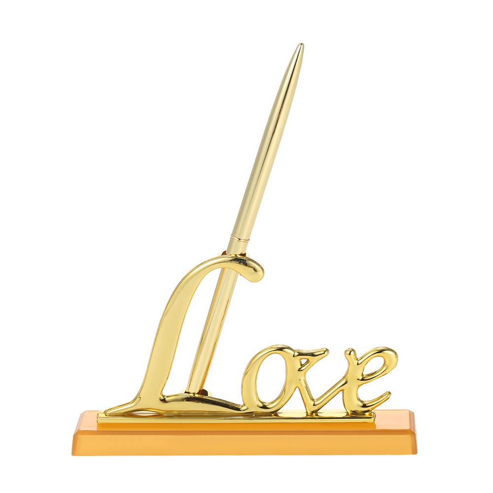 """La firma de boda 1pc pluma con el """"amor"""" exclusivas boda del sostenedor de la pluma de Decoración Suministros de libro de invitados Decoración"""