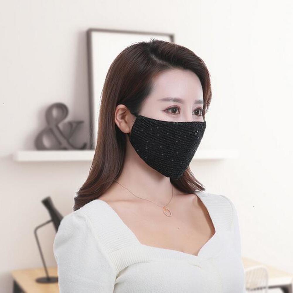 Máscara reutilizable Bling PM2,5 3d Escudo Cuidado lavable Cara Sun de la manera del color oro codo Sequin9lr1 126g