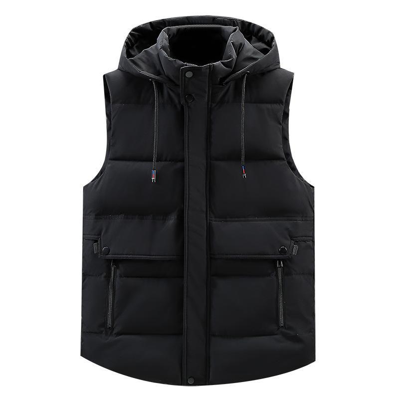 5XL Primavera Inverno caldo cappello staccabile degli uomini della maglia senza maniche casuale camuffamento cappotto del rivestimento per gli uomini unisex Gilet più Large Size