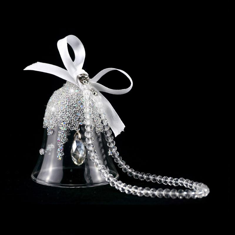 acessórios do carro de cristal do floco de neve sino de Natal enfeites sinos acessórios carro pendurado vestidos pendente Goddess