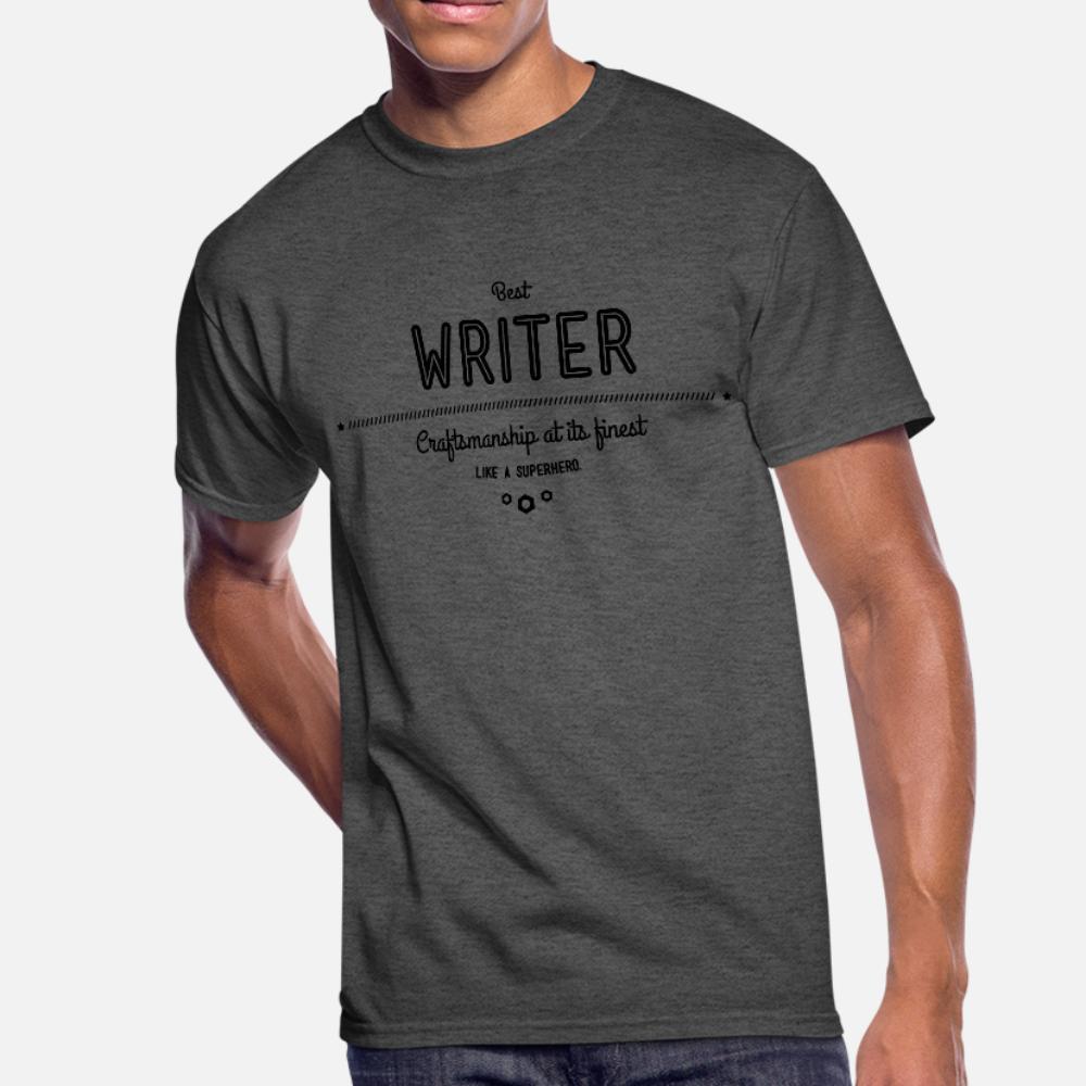 Лучший писатель Мастерство в своих лучших тенниска мужчин Настройка хлопка O шеи Одежда Graphic Новый стиль лето Стиль Vintage рубашка