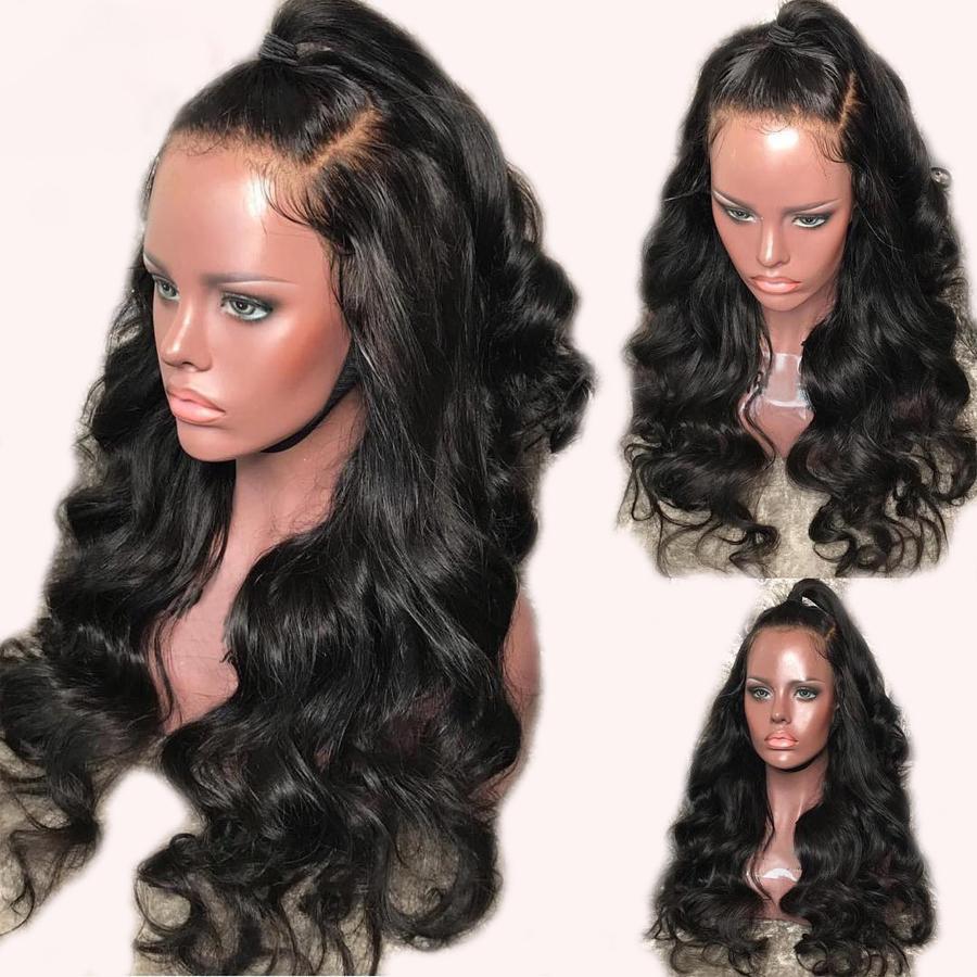 Neuesten 26inch Spitze-Front-Perücken brasilianische Körper-Wellen-Spitze-Front-Menschenhaar-Perücken 150% Körper-Wellen-13 * 6 Lace Frontal-Perücken für schwarze Frauen