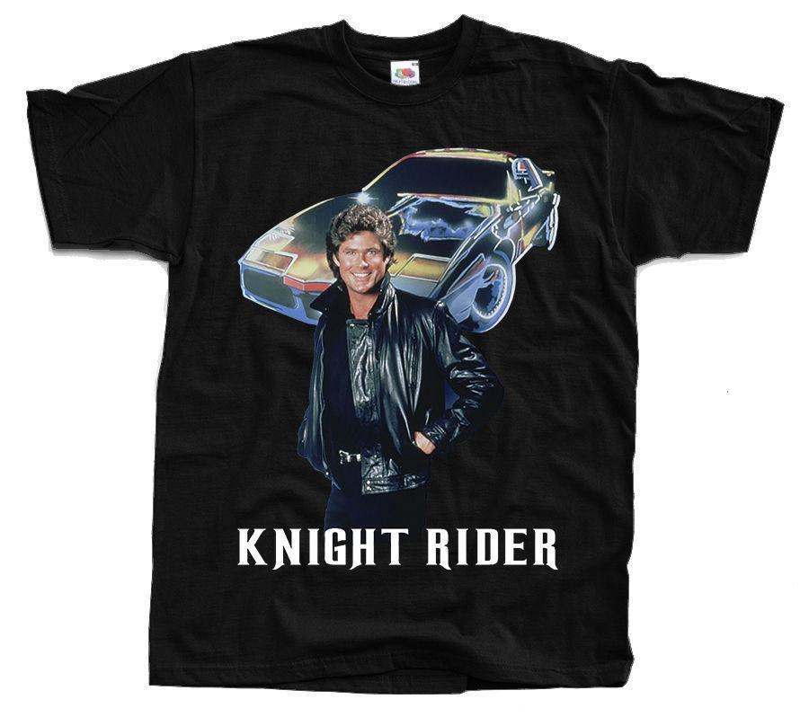 serie knight rider, Michael Knight, David Hasselhoff, ver. 1 camiseta fresco ocasional orgullo hombres de la camiseta unisex nueva camiseta de la moda