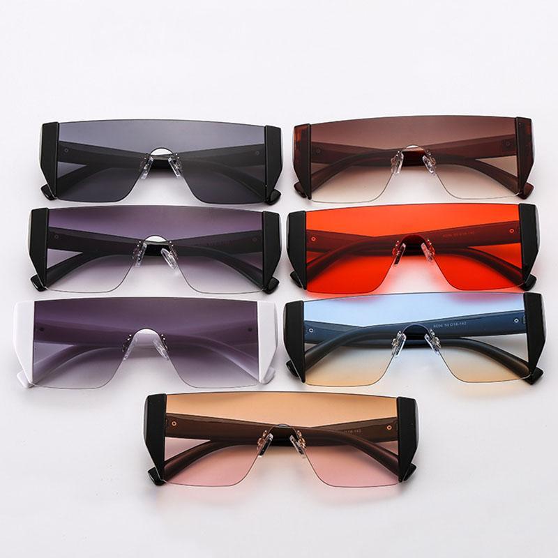 2020 New Fashion One Piece Lens Goggle Style Rimless Rider Sunglasses Design oversize Design antivento Lato avvolgente Occhiali Occhiali Ognello