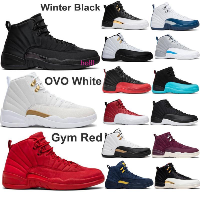 Erkekler 12s Basketbol Ayakkabıları FIBA Spor Kırmızı Michigan Bordo 12 Master Grip Oyun Tasarımcısı Ayakkabı Spor Sneakers Eğitmenler Boyut 7-13