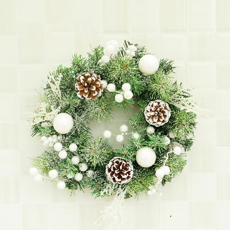 Моделирование Рождество Искусственные Венки с Bowknot украшения Круглый Дом окна двери Декор Pinecone Garland для свадьбы