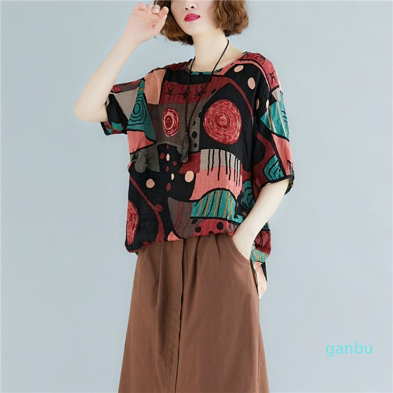 Hot Sale Plus Size Korean T Shirt Graphic Tees Women Korean Print Tshirt Cotton Linen Vintage 2020 Summer T-Shirt Aesthetic Harajuku Tops