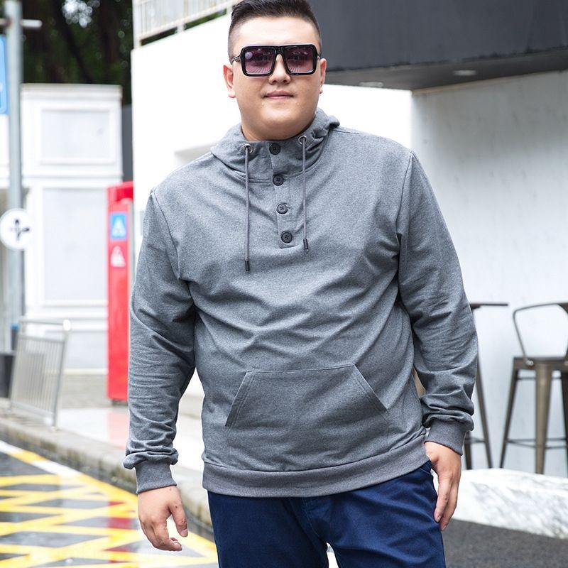 maglione degli uomini 9W1lC Fat incappucciato grandi dimensioni Sun Honglei maglione di cotone pullover pullover ragazzo autunno e inverno grasso casuale