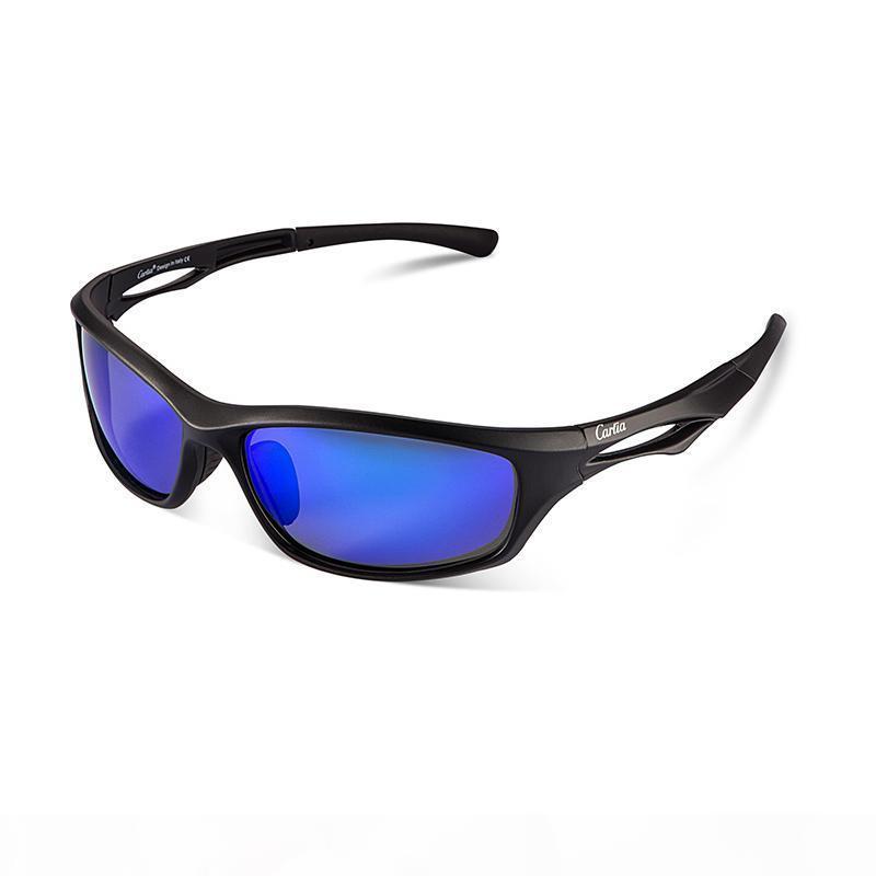 Brand New Fahrrad Glas polarisierte Sonnenbrille Sonnenbrille für Männer Sport-Spitze Radfahren Sonnenbrille Carfia CA009 Sonnegläser 4 Farben 54mm