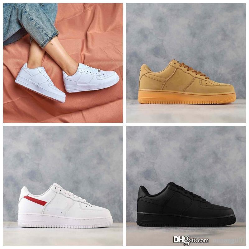 2020 di alta qualità NUOVO mans moda l'aria a bassa alta top bianco in esecuzione scarpe da skateboard scarpe Le donne amano il nero unisex quelli 1
