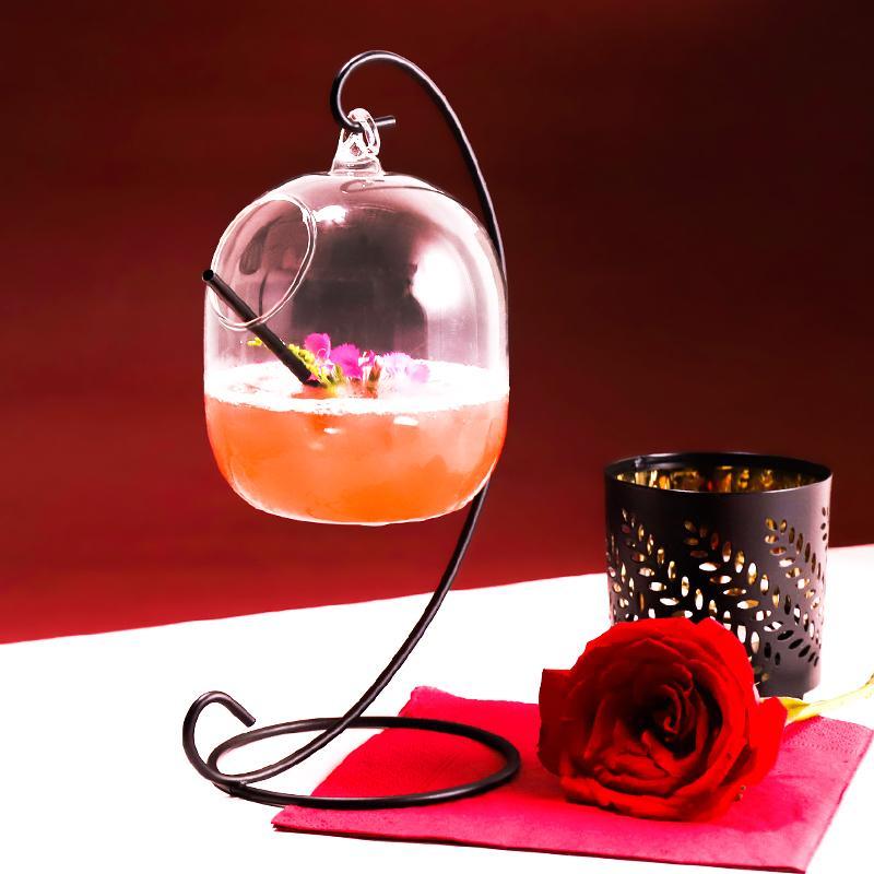Coupe créative eau Nouveau cocktail suspendu Bouteille en verre Hanging Cup Bar à vin Timbale LJ200821