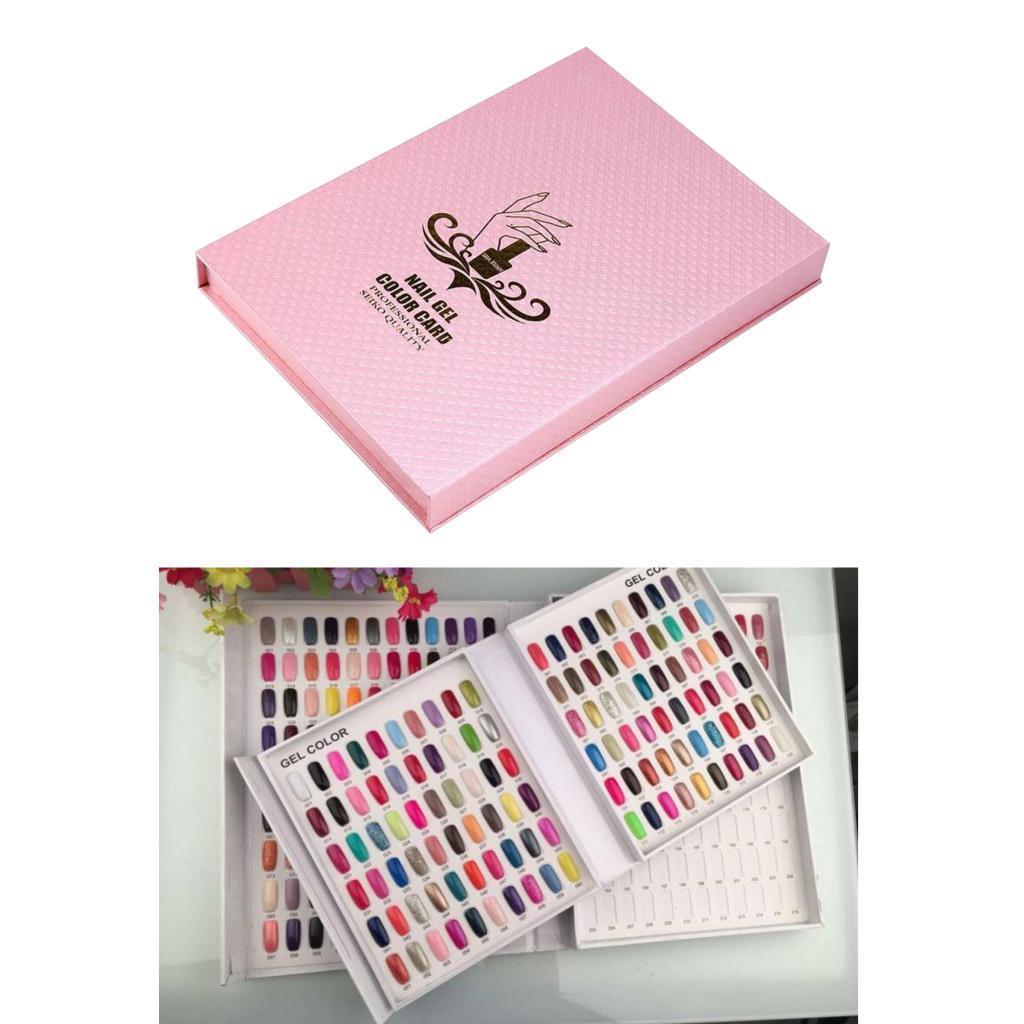 Nail Gel Color Chart Display Book Лак для ногтей Гель Цвет дисплея ногтей салон Инструменты