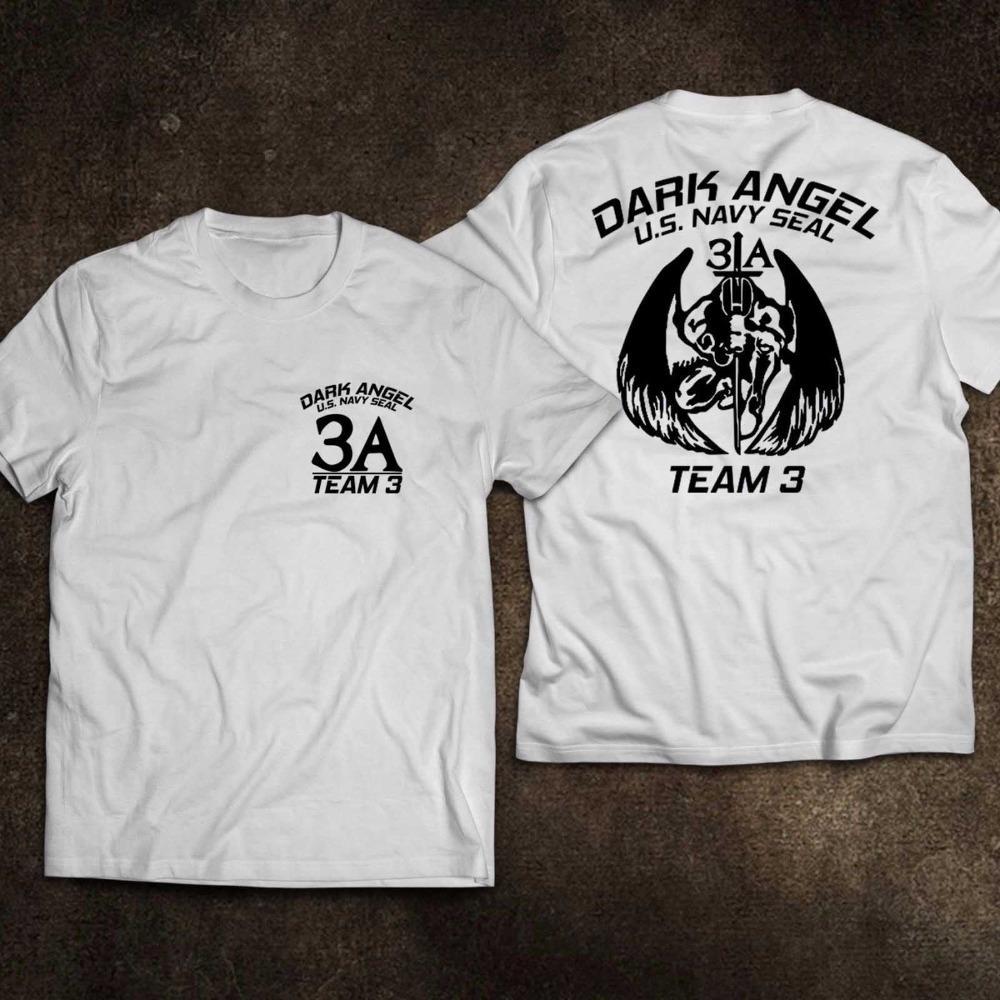 Dark Angel Força Especial New Navy Seal Us Army Equipe 3 de Moda de Nova Marca Rua Hip Hop Academia irlandesa camisetas