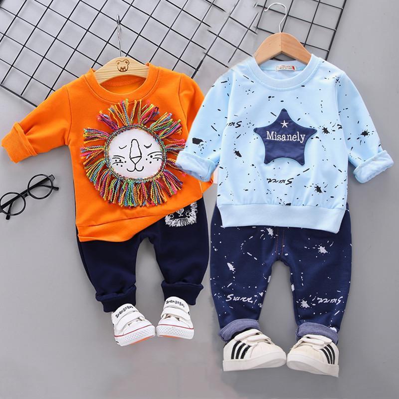 Детская одежда Детские мальчиков костюм Star камуфляж костюм Топы Брюки 2PCS детей новорожденный мальчик весенние наряды девочек, Infantil Набор