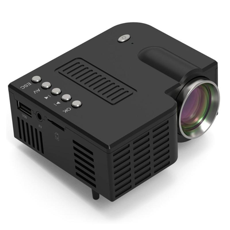 Mini Taşınabilir Projeksiyon LED WiFi Projektör UC28C 1080P Video Ev Sineması Film Oyun Sinema Ofisi siyah