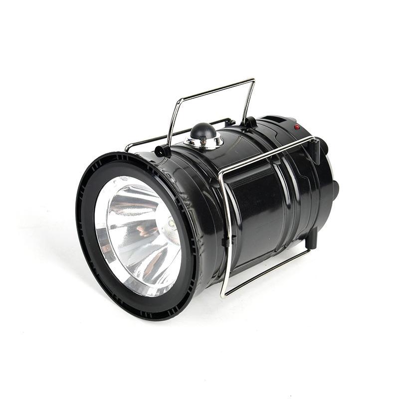 Outdoor Luminaire Lanternas LED 6LEDs energia solar dobrável portátil LED recarregável mão Lâmpada Luz Camping Lantern