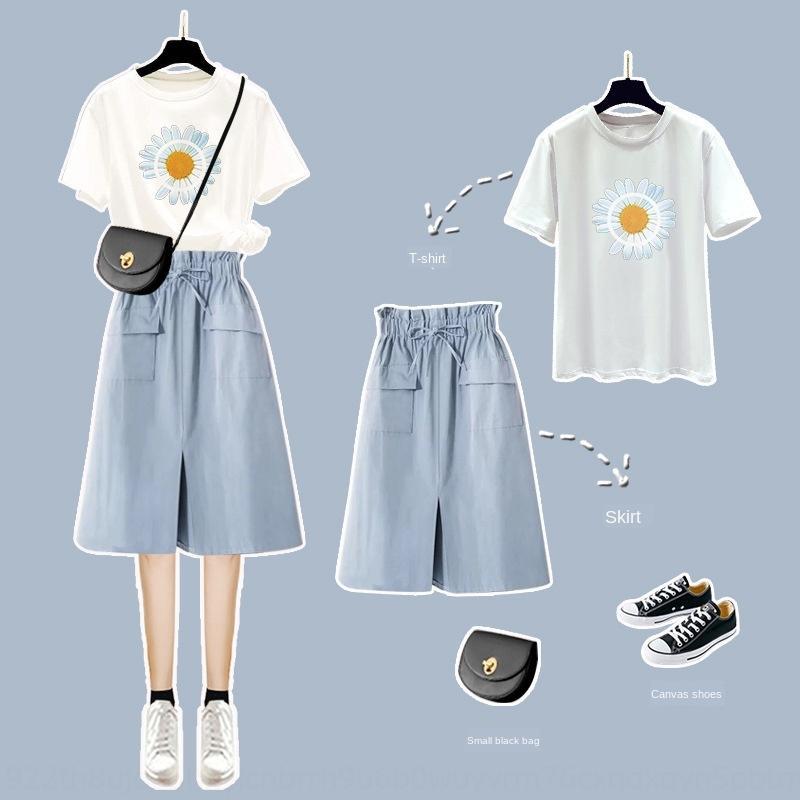 ko7br Hipster fille de style salopette de l'été 2020 super fée femmes nouvelle jupe Mori nouvelle jupe costume deux pièces de style occidental doux