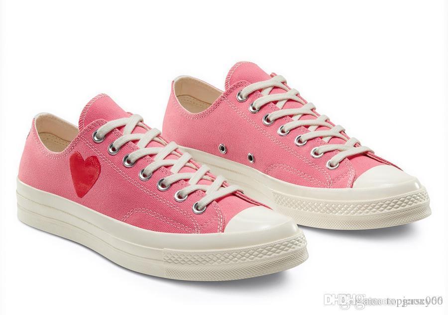 1970S Designer Love Eyes Play Chuck 70 Heart 70s Casual Shoes Scarpe da skate Canvas Taglia 35-44