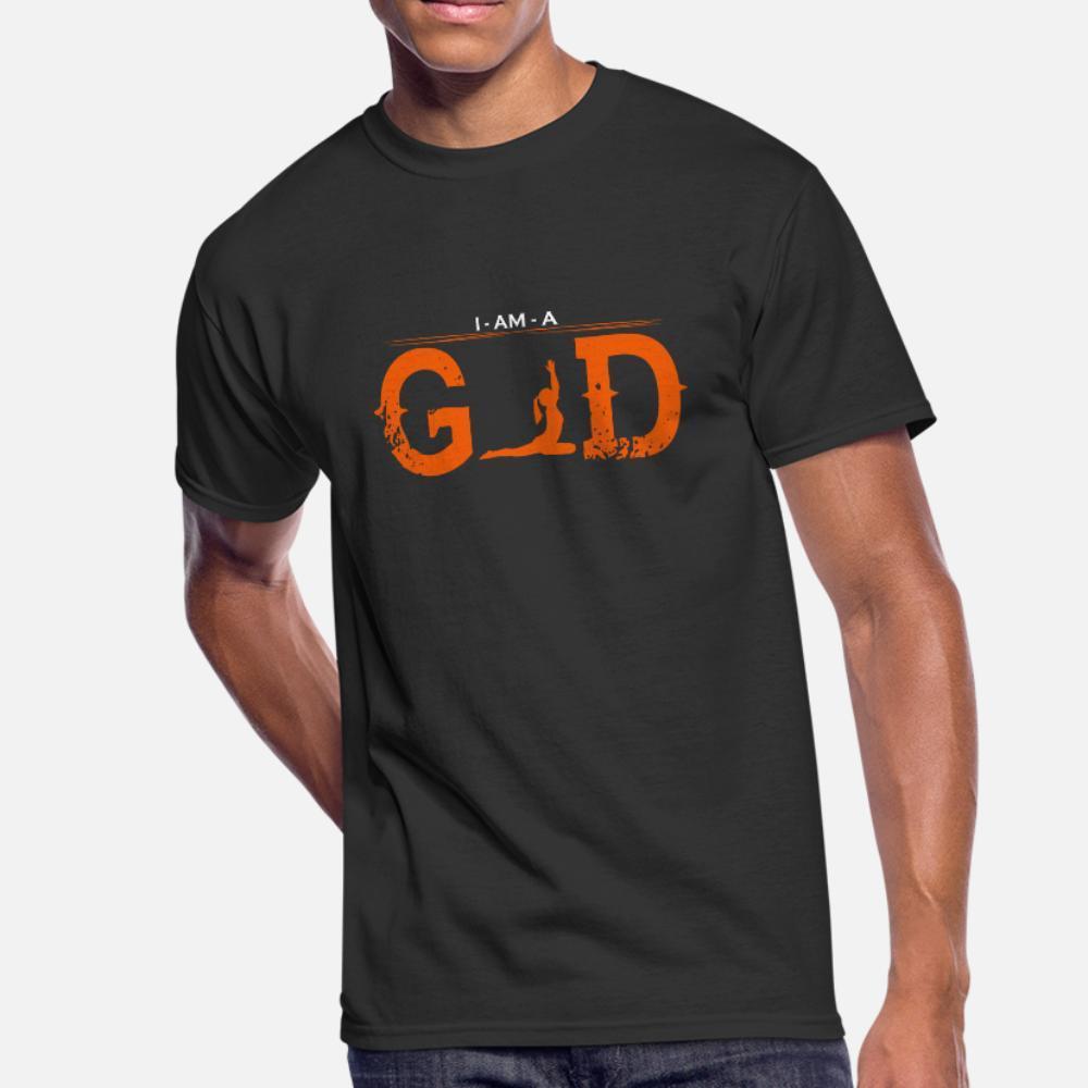 Io sono Dio Leggenda Ballet Yoga 2 uomini della maglietta lavorato a maglia cotone formato S-3XL della novità fitness traspirante camicia fresca estate