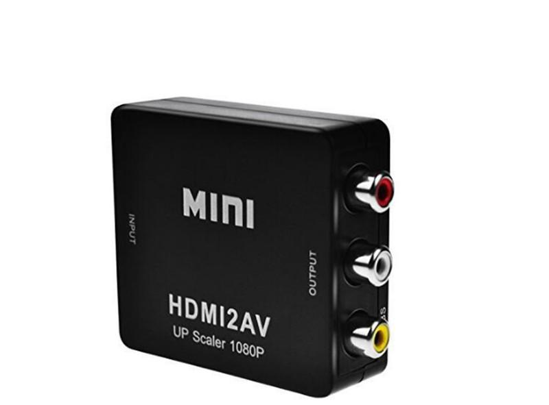 Mini HD 1080P HDMI2AV Video Converter Box HDMI to RCA AV CVSB L R Video Support NTSC PAL Output HDMI TO AV Adapter