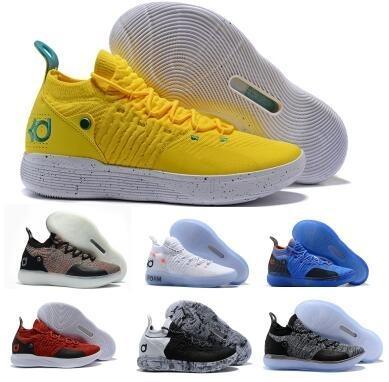 Zapatos 2019 Nuevo EP KD 11 Blanco Naranja espuma rosa paranoide Oreo ICE baloncesto original Kevin Durant XI KD11 para hombre de las zapatillas de deporte Formadores Size40-46